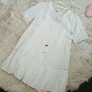 White knox rose dress